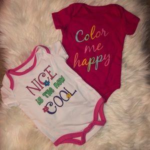 TWO baby girl onesies
